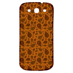Vintage Paisley Terra Samsung Galaxy S3 S Iii Classic Hardshell Back Case by MoreColorsinLife
