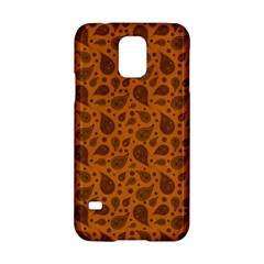 Vintage Paisley Terra Samsung Galaxy S5 Hardshell Case  by MoreColorsinLife