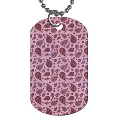 Vintage Paisley Pink Dog Tag (one Side) by MoreColorsinLife