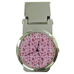 Vintage Paisley Pink Money Clip Watches by MoreColorsinLife