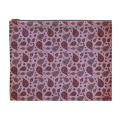 Vintage Paisley Pink Cosmetic Bag (xl) by MoreColorsinLife