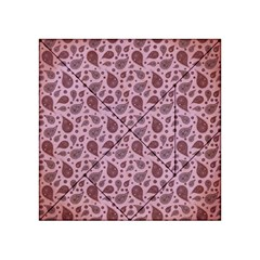 Vintage Paisley Pink Acrylic Tangram Puzzle (4  X 4 ) by MoreColorsinLife