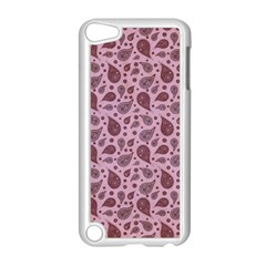 Vintage Paisley Pink Apple Ipod Touch 5 Case (white) by MoreColorsinLife