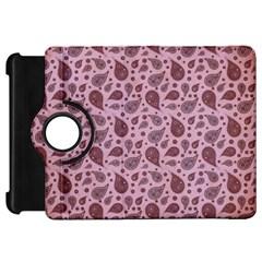Vintage Paisley Pink Kindle Fire Hd Flip 360 Case by MoreColorsinLife