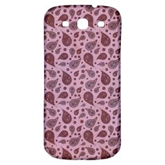 Vintage Paisley Pink Samsung Galaxy S3 S Iii Classic Hardshell Back Case by MoreColorsinLife