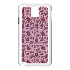 Vintage Paisley Pink Samsung Galaxy Note 3 N9005 Case (white) by MoreColorsinLife