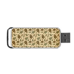 Vintage Paisley Portable Usb Flash (two Sides) by MoreColorsinLife