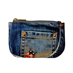 Blue Jean Lady Bug Coin Change Purse by TheWowFactor
