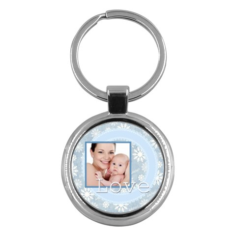 Merry Christmas By M Jan   Key Chain (round)   6zeurn3d4gg4   Www Artscow Com Front