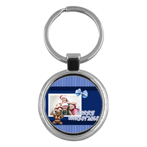 Merry Christmas By M Jan   Key Chain (round)   H6balnew0mcj   Www Artscow Com Front