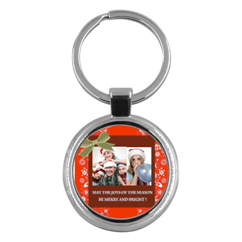 Merry Christmas By M Jan   Key Chain (round)   Rotx4g4c3o1j   Www Artscow Com Front