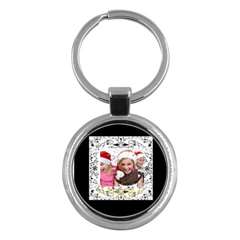 Merry Christmas By M Jan   Key Chain (round)   0yp4zvi5vd9c   Www Artscow Com Front