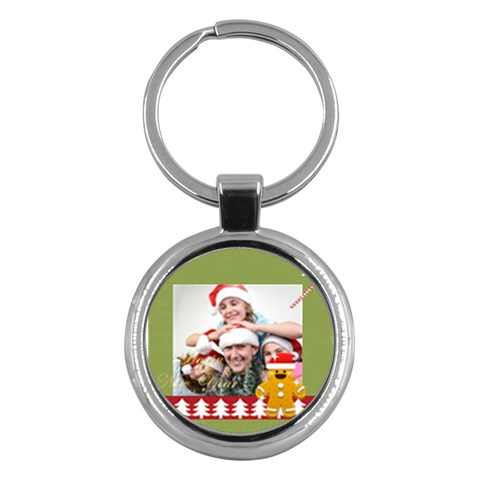 Merry Christmas By M Jan   Key Chain (round)   Iy3k83zexc9a   Www Artscow Com Front