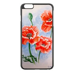 Poppies Apple Iphone 6 Plus/6s Plus Black Enamel Case by ArtByThree
