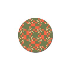 Green Orange Shapes Golf Ball Marker (10 Pack) by LalyLauraFLM