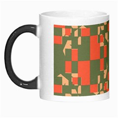 Green Orange Shapes Morph Mug by LalyLauraFLM