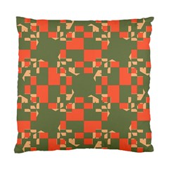 Green Orange Shapes Standard Cushion Case (two Sides) by LalyLauraFLM
