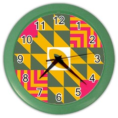 Shapes In A Mirror Color Wall Clock by LalyLauraFLM