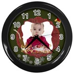 xmas - Wall Clock (Black)
