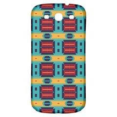 Blue Red And Yellow Shapes Pattern Samsung Galaxy S3 S Iii Classic Hardshell Back Case by LalyLauraFLM