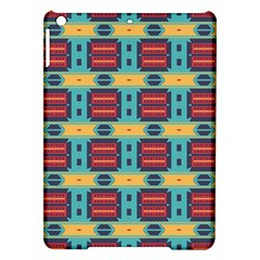 Blue Red And Yellow Shapes Pattern Apple Ipad Air Hardshell Case by LalyLauraFLM
