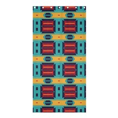 Blue red and yellow shapes patternShower Curtain 36  x 72