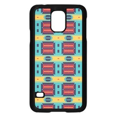 Blue Red And Yellow Shapes Patternsamsung Galaxy S5 Case by LalyLauraFLM