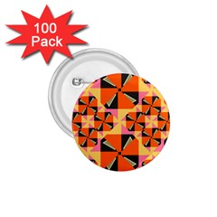 Windmill In Rhombus Shapes 1 75  Button (100 Pack)  by LalyLauraFLM