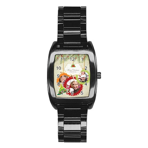 Xmas By Jo Jo   Stainless Steel Barrel Watch   Vlmpasfoybtn   Www Artscow Com Front