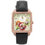 xmas - Rose Gold Leather Watch