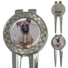 Malinois Puppy Sitting 3-in-1 Golf Divots by TailWags