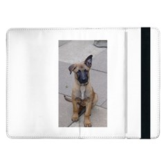 Malinois Puppy Sitting Samsung Galaxy Tab Pro 12.2  Flip Case by TailWags