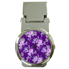 Vintage Roses Purple Money Clip Watches by MoreColorsinLife
