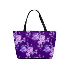 Vintage Roses Purple Shoulder Handbags by MoreColorsinLife