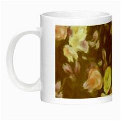 Vintage Roses Golden Night Luminous Mugs by MoreColorsinLife