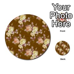 Vintage Roses Golden Multi Purpose Cards (round)  by MoreColorsinLife