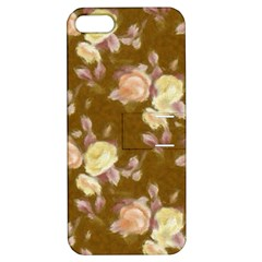 Vintage Roses Golden Apple Iphone 5 Hardshell Case With Stand by MoreColorsinLife