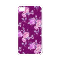 Vintage Roses Pink Apple Iphone 4 Case (white) by MoreColorsinLife