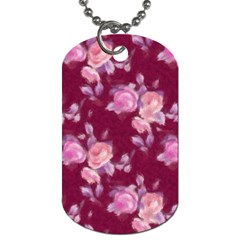 Vintage Roses Dog Tag (two Sides) by MoreColorsinLife