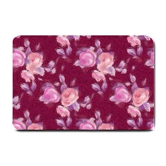 Vintage Roses Small Doormat  by MoreColorsinLife