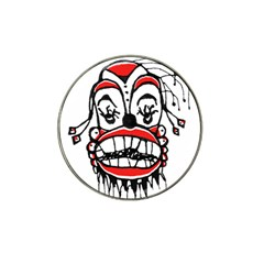 Dark Clown Drawing Hat Clip Ball Marker by dflcprints