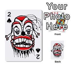 Dark Clown Drawing Playing Cards 54 Designs