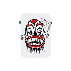 Dark Clown Drawing Apple Ipad Mini Protective Soft Cases by dflcprints