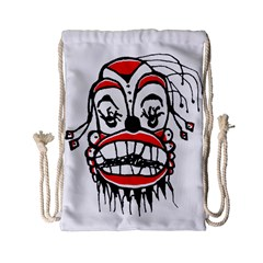 Dark Clown Drawing Drawstring Bag (small) by dflcprints