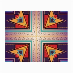 Cross And Other Shapes Small Glasses Cloth (2 Sides) by LalyLauraFLM