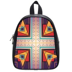 Cross And Other Shapes School Bag (small) by LalyLauraFLM