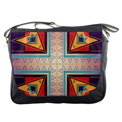 Cross And Other Shapes Messenger Bag by LalyLauraFLM