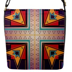 Cross And Other Shapes Flap Closure Messenger Bag (s) by LalyLauraFLM