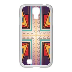 Cross And Other Shapes Samsung Galaxy S4 I9500/ I9505 Case (white) by LalyLauraFLM