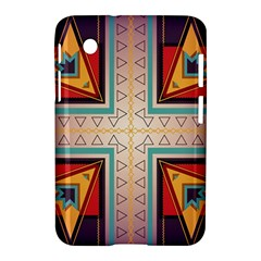 Cross And Other Shapes Samsung Galaxy Tab 2 (7 ) P3100 Hardshell Case  by LalyLauraFLM